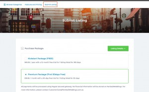 Parties, wedding suppliers submit your business listing