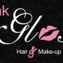 Pink gloss-hair makeup