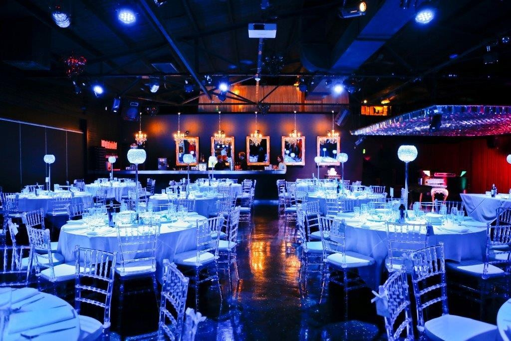 A wedding set up at Red Scooter The Unique Events Venue