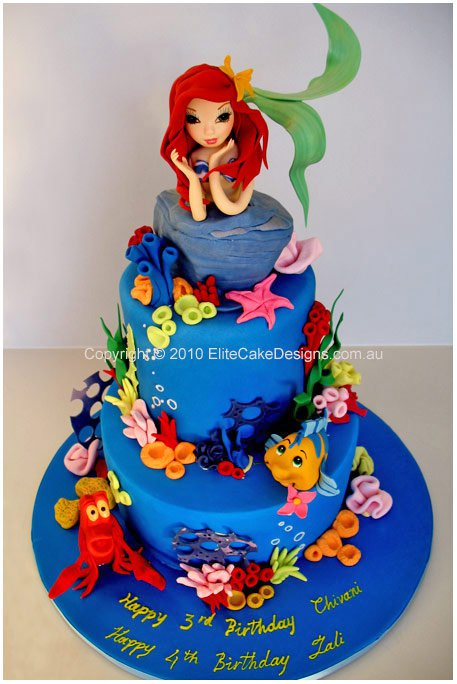 Ariel Mermaid Cake Parties2weddings