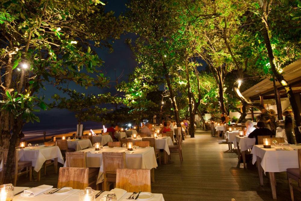 Honeymoon Ideas Romantic Dinner at Chez Gado Gado Restaurant Seminyak Bali
