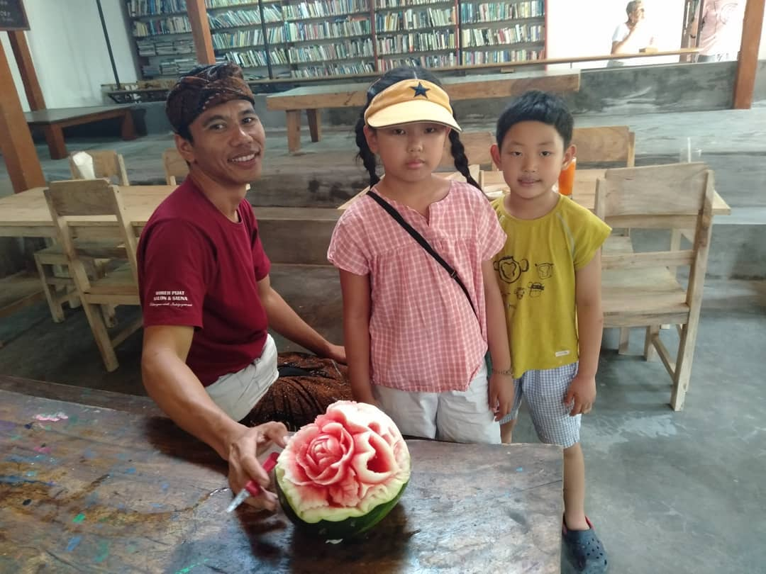 Family Activity in Bali at Pondok Pekak Library