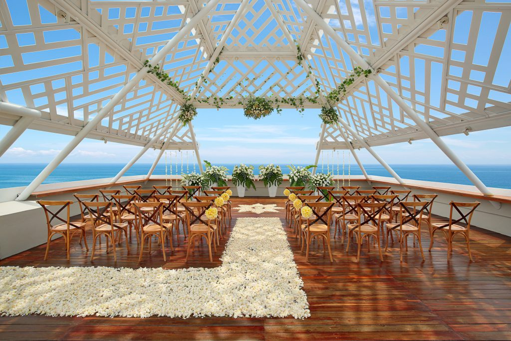 Top 5 bali wedding packages under aud 10k cliff top venue at Bandha Hotel