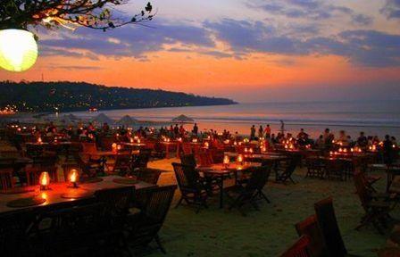 Sunset Dinner at Jimbaran Beach
