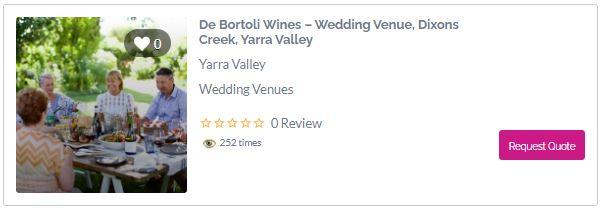 De Bortoli Wines - yarra valley winery wedding venues