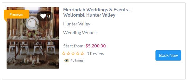 Amazing Rustic Wedding Venues in Hunter Valley - Merrindah Weddings & Events