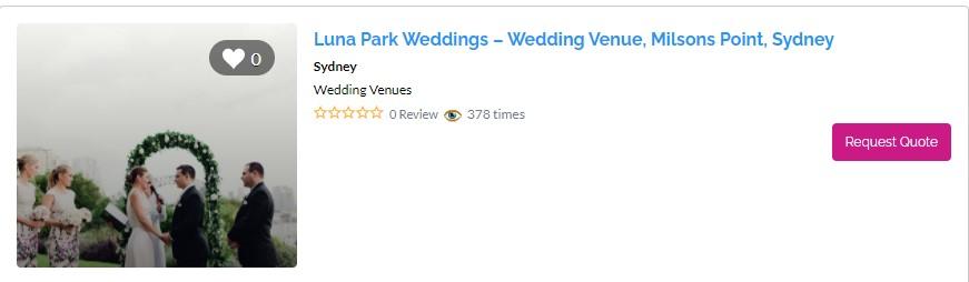 Top waterfront wedding venues in Sydney - Luna Park Weddings