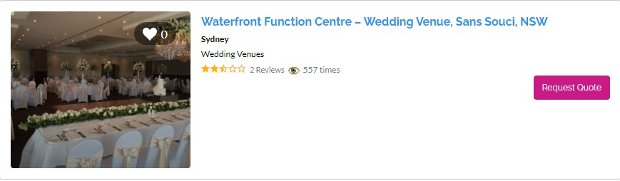 Top Waterfront Wedding Venues in Sydney - The Waterfront Function Centre Sans Souci