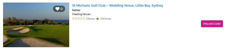 Top Waterfront Wedding Venues in Sydney - St Michaels Golf Club