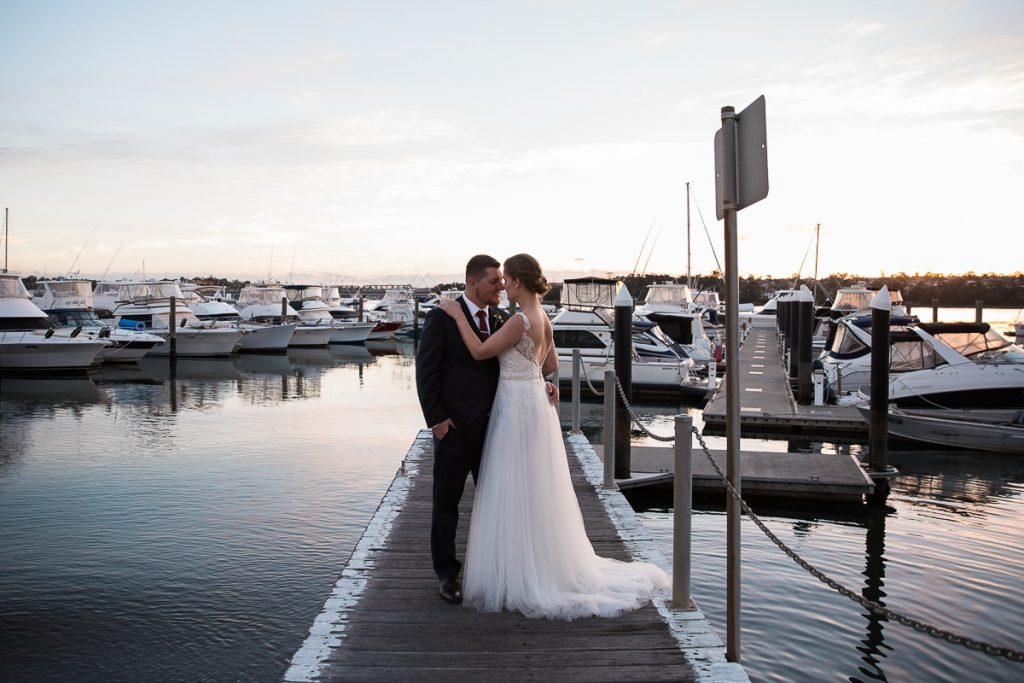 A couple standing on the jetty