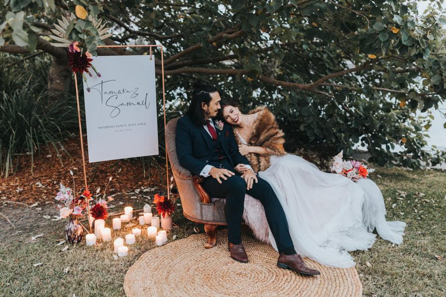 The Lakehouse Sunshine Coast -Couple Intimate Wedding - Parties2Weddings