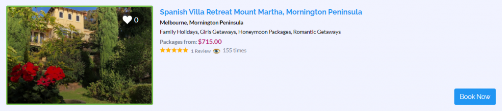 Honeymoon in Melbourne, Victoria - Villa Mallorca - Parties2Weddings