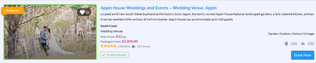 Appin House - Appin - Parties2Weddings