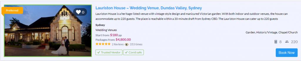 Lauriston House - Dundas Valley - Parties2Weddings