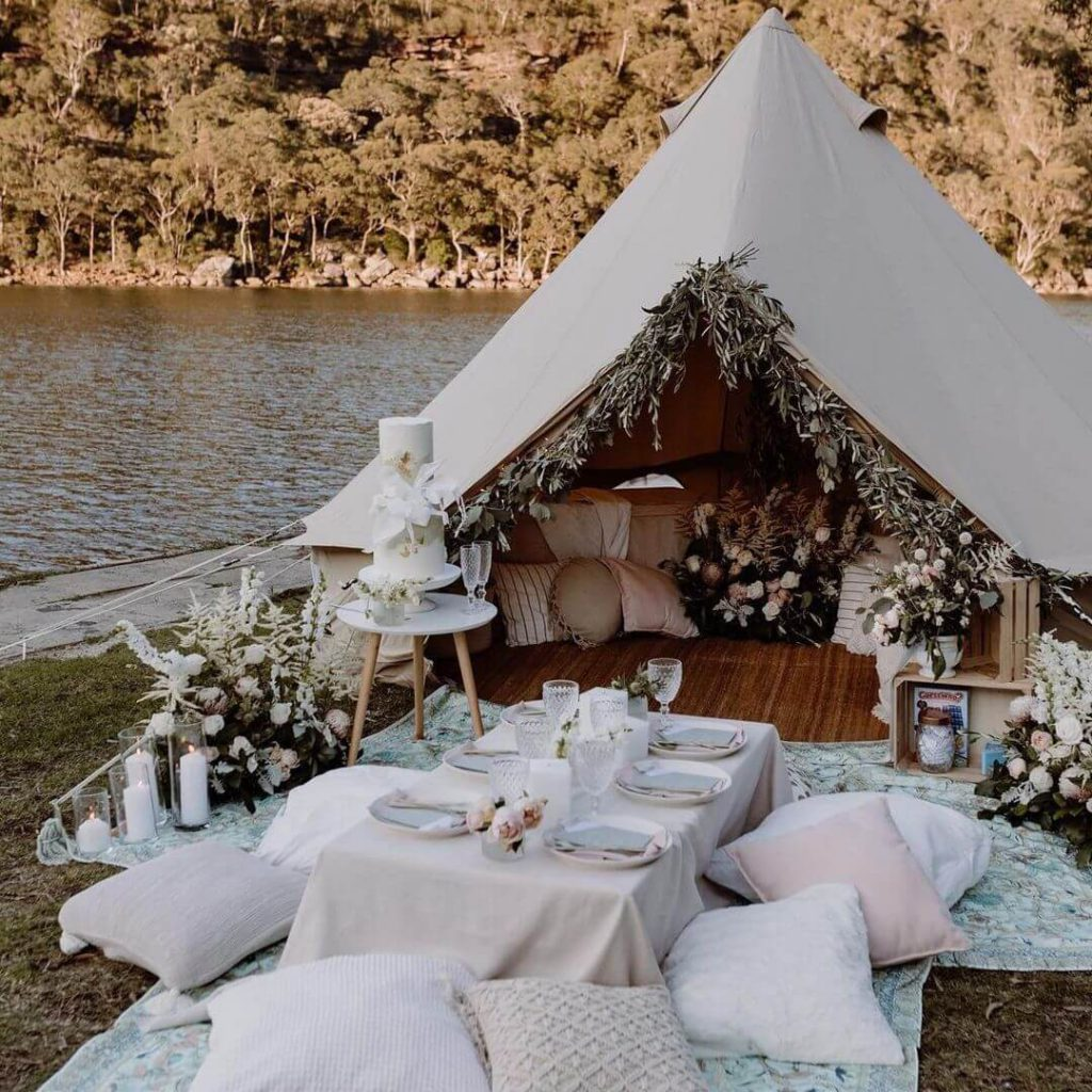Glamping Wedding in Melbourne, Victoria - Breathe Bell Tents - Parties2Weddings
