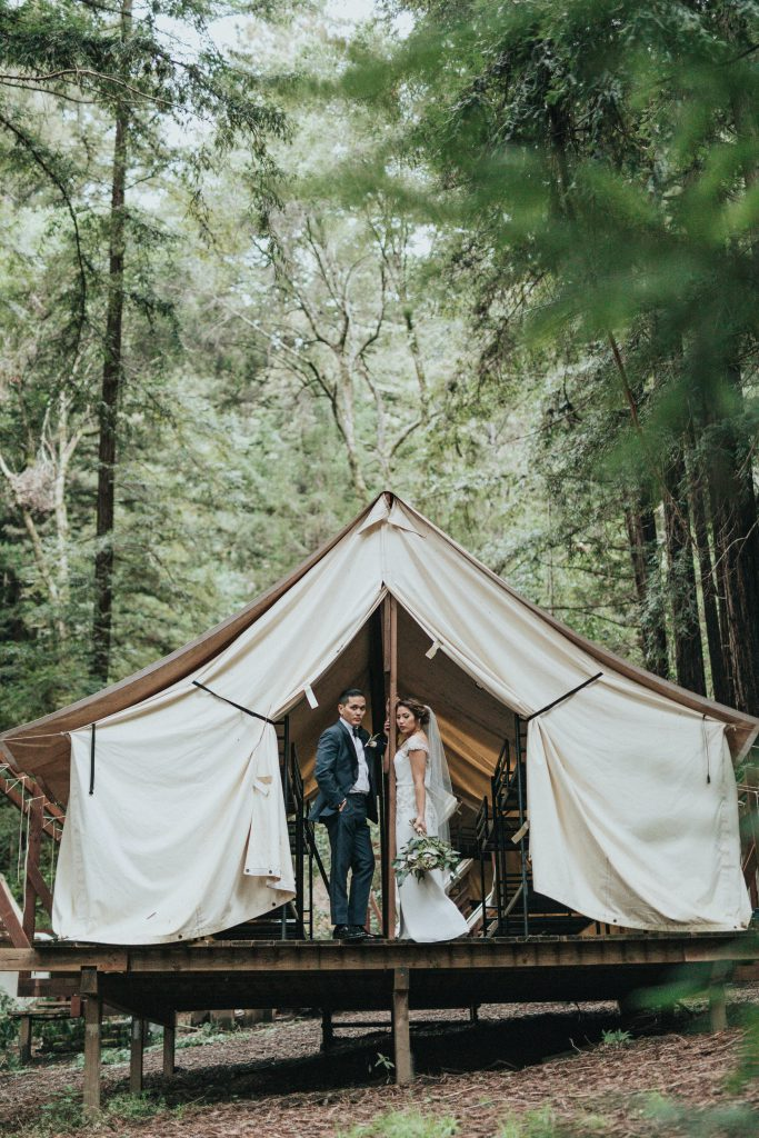 A couple in Glamping wedding - Parties2Weddings